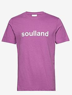 LOGIC CHUCK T-SHIRT W.PRINT - logo t-shirts - purple