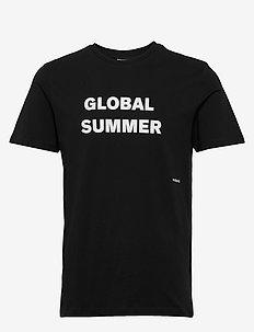 LOGIC DRUX T-SHIRT W.PRINT - printed t-shirts - black