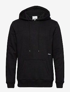 LOGIC WALLANCE  HOODED SWEAT W. FRONT PRINT - perus-college-paitoja - black