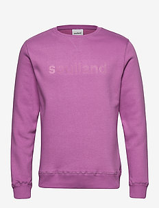 LOGIC WILLIE SWEAT W. FRONT FLOCK PRINT - svetarit - purple