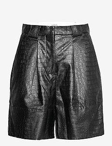 Liv shorts - læder shorts - black