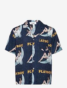 Orson Playboy shirt - kortærmede skjorter - navy