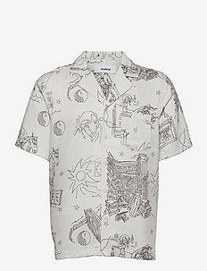 Orson shirt - koszule lniane - off white aop