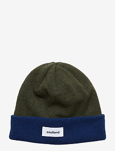 VILLY BEANIE - GREEN/NAVY