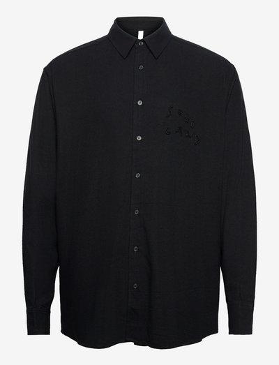 Damon shirt - linneskjortor - black