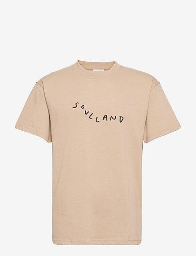 Marker Logo T-shirt - korte mouwen - beige