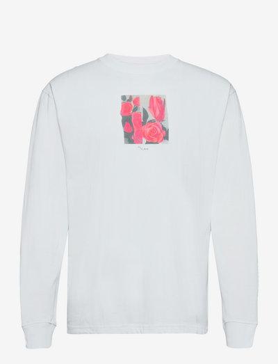Rose long sleeved T-shirt - t-shirts à manches longues - white