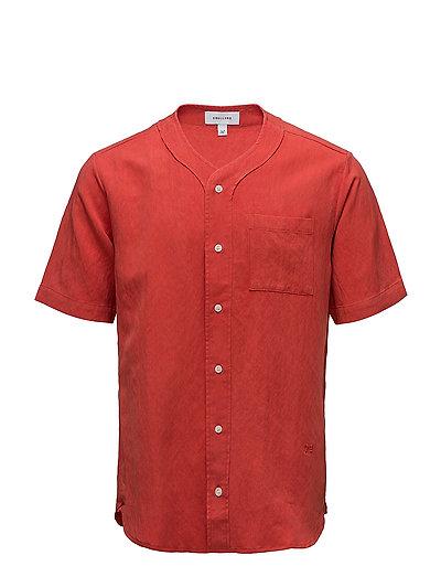 Pumkin short sleeve baseball shirt w. chest pocket - RED