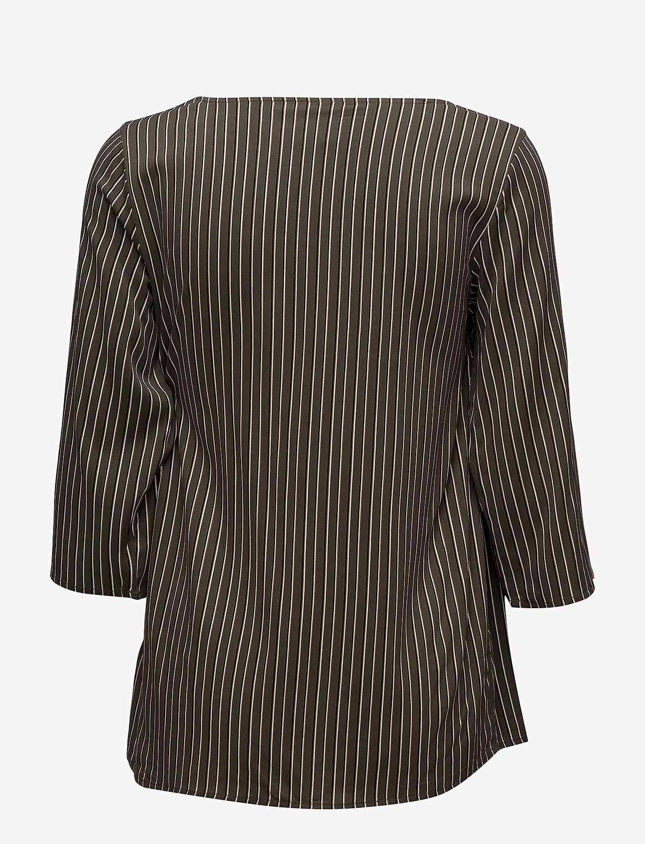 Soyaconcept - SC-MALICA - striped t-shirts - grape leaf combi