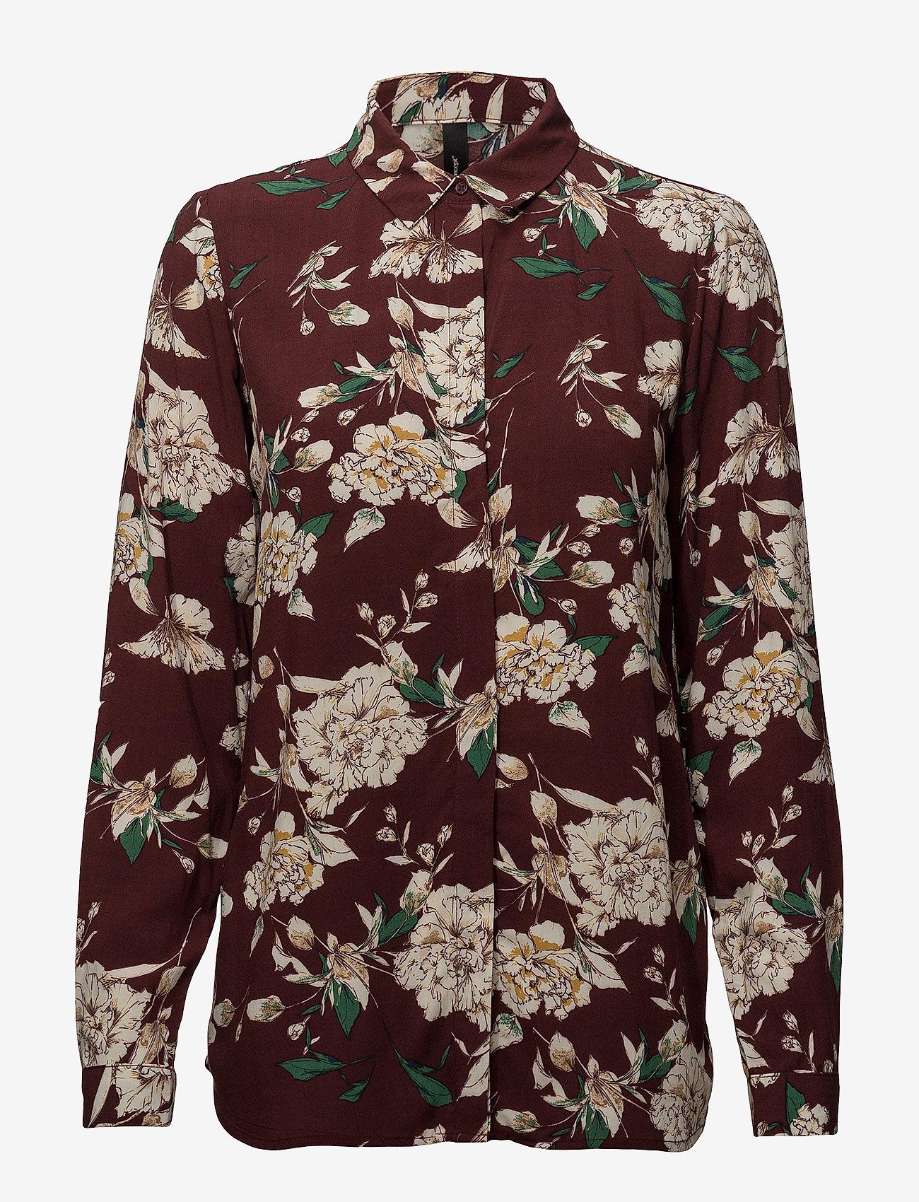 Soyaconcept - SC-MAGENTA - blouses à manches longues - ruby combi