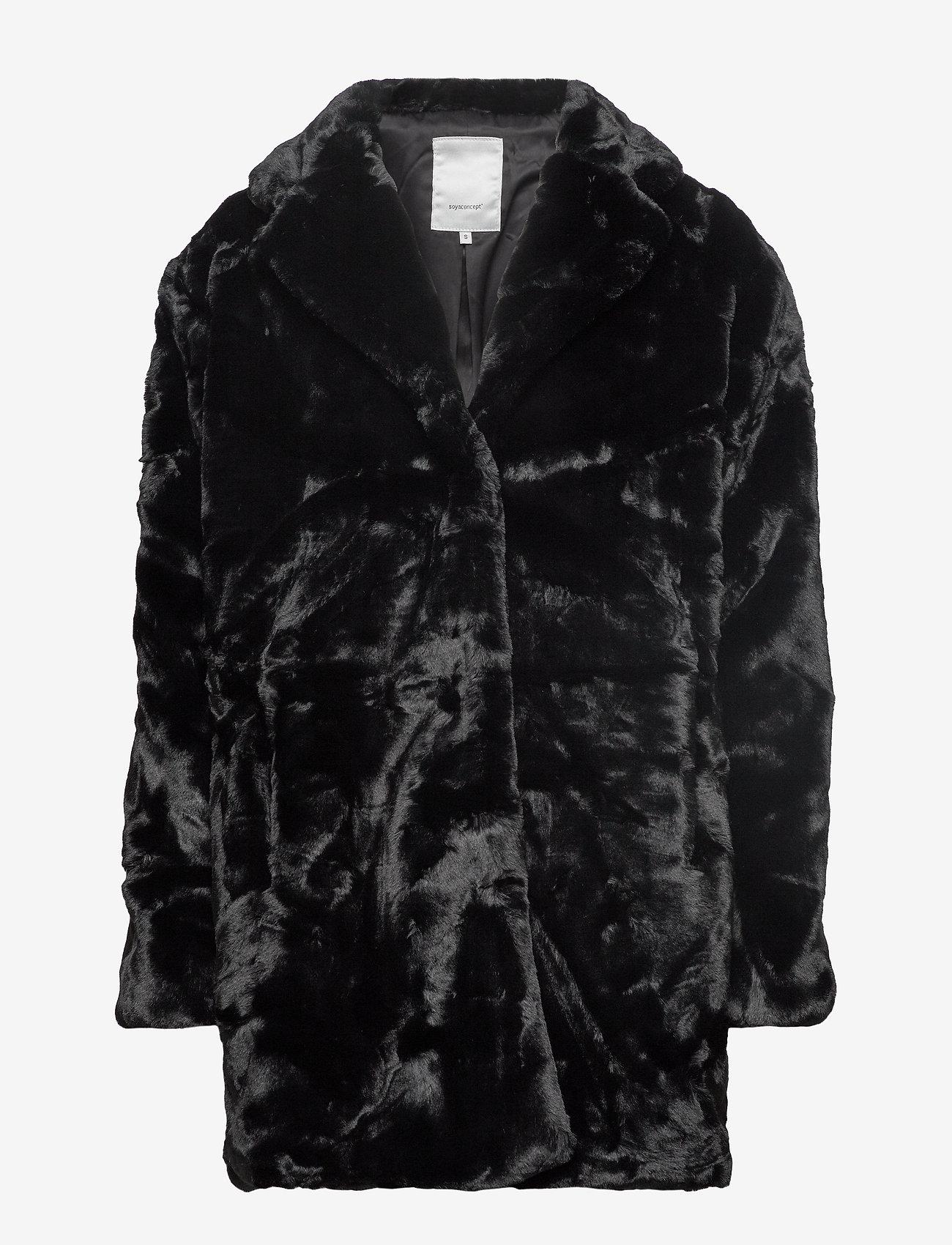 Soyaconcept - SC-AUGUSTA - faux fur - black - 0