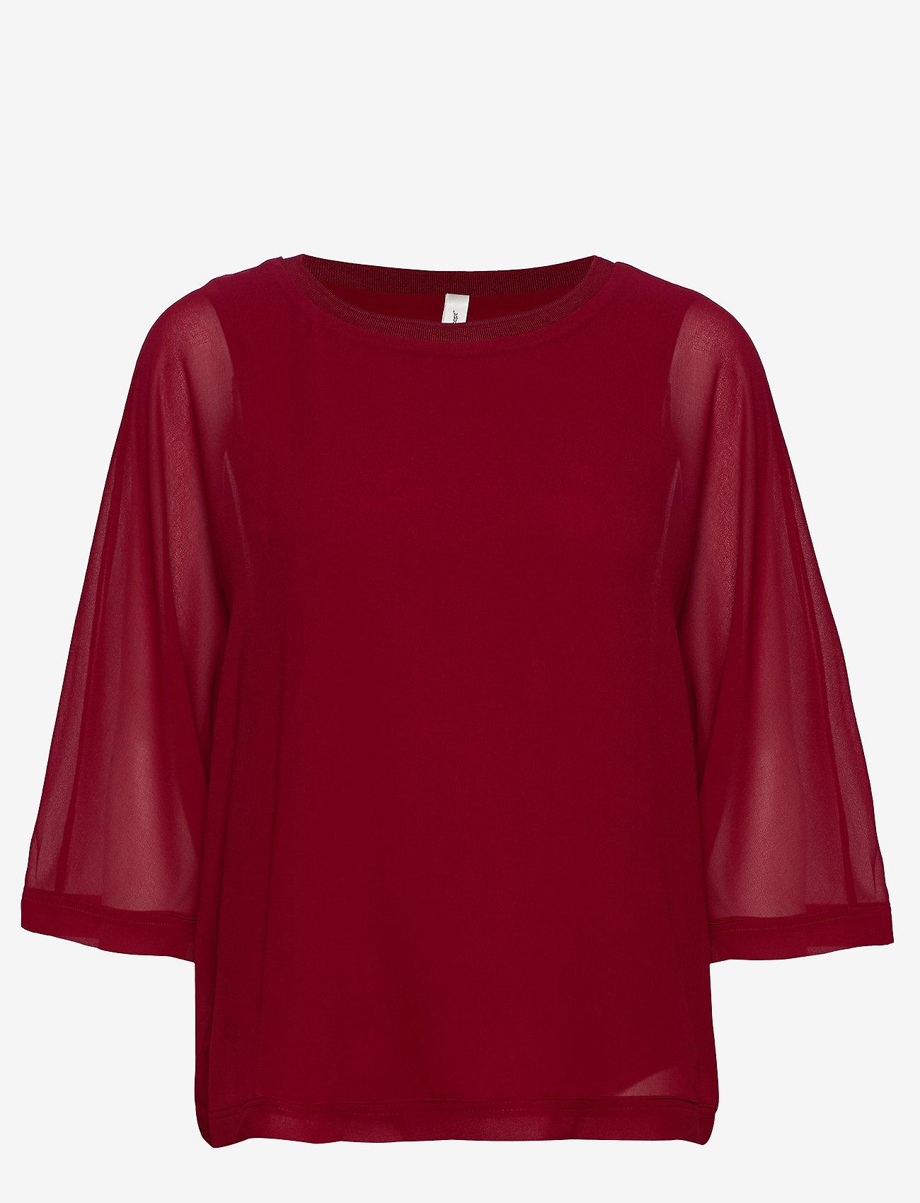 Soyaconcept - SC-ODINA - blouses à manches longues - cabernet