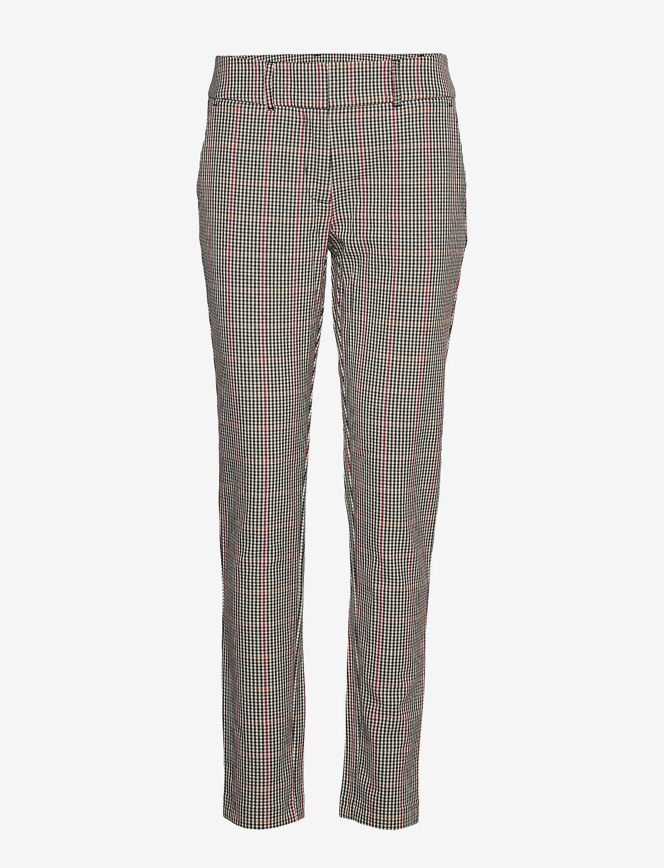 Soyaconcept - SC-BELLA - pantalons droits - cabernet combi