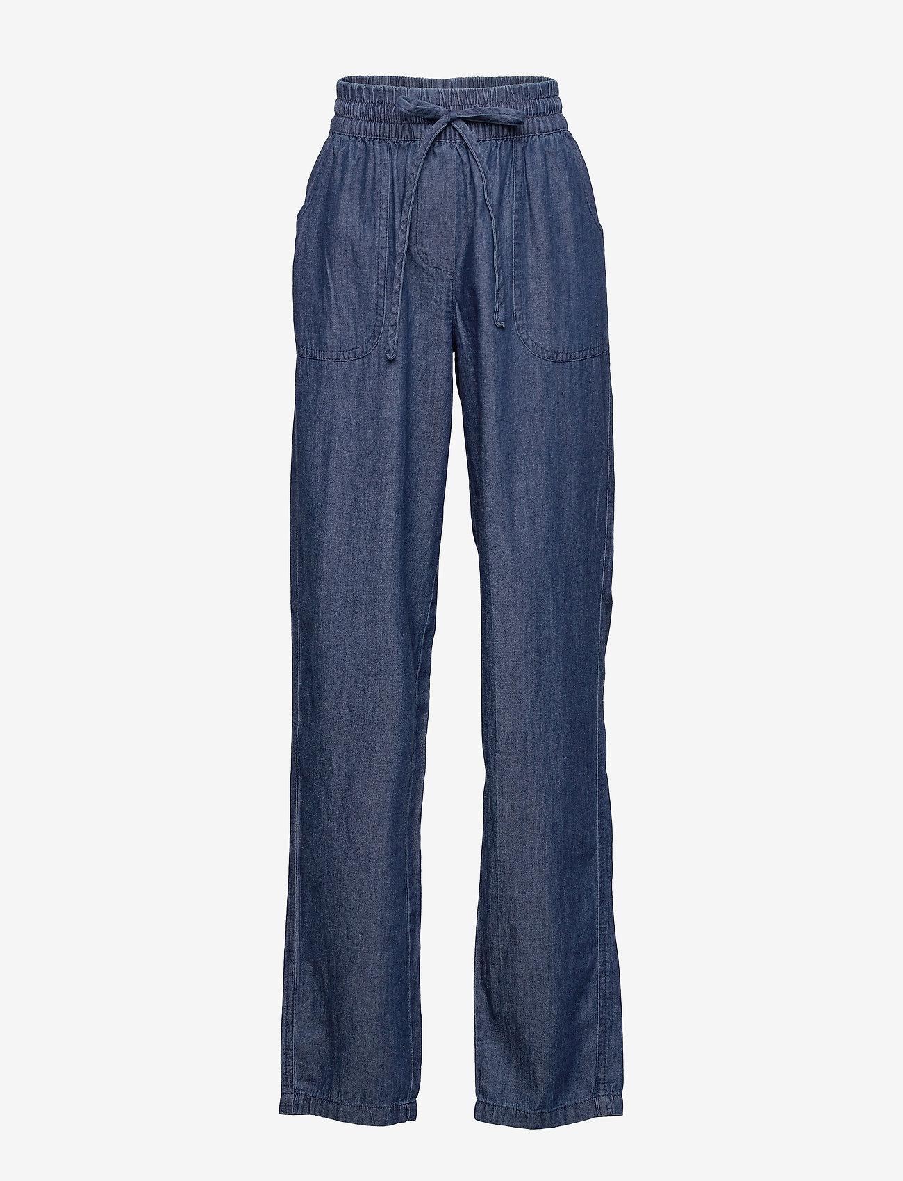 Soyaconcept - SC-AKILA CHAMBREY - casual trousers - medium blue denim - 0