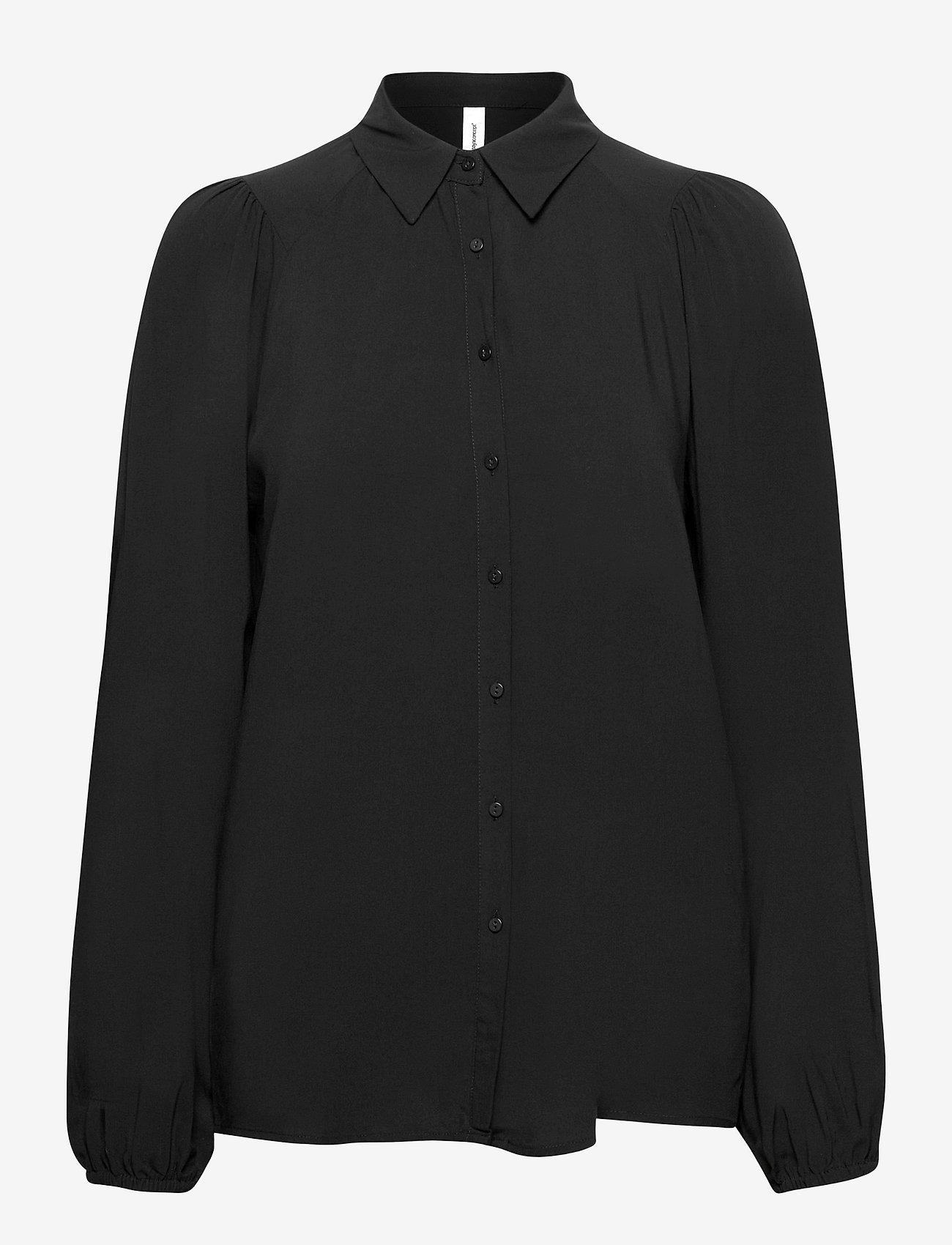 Soyaconcept - SC-RADIA - long sleeved blouses - black - 0