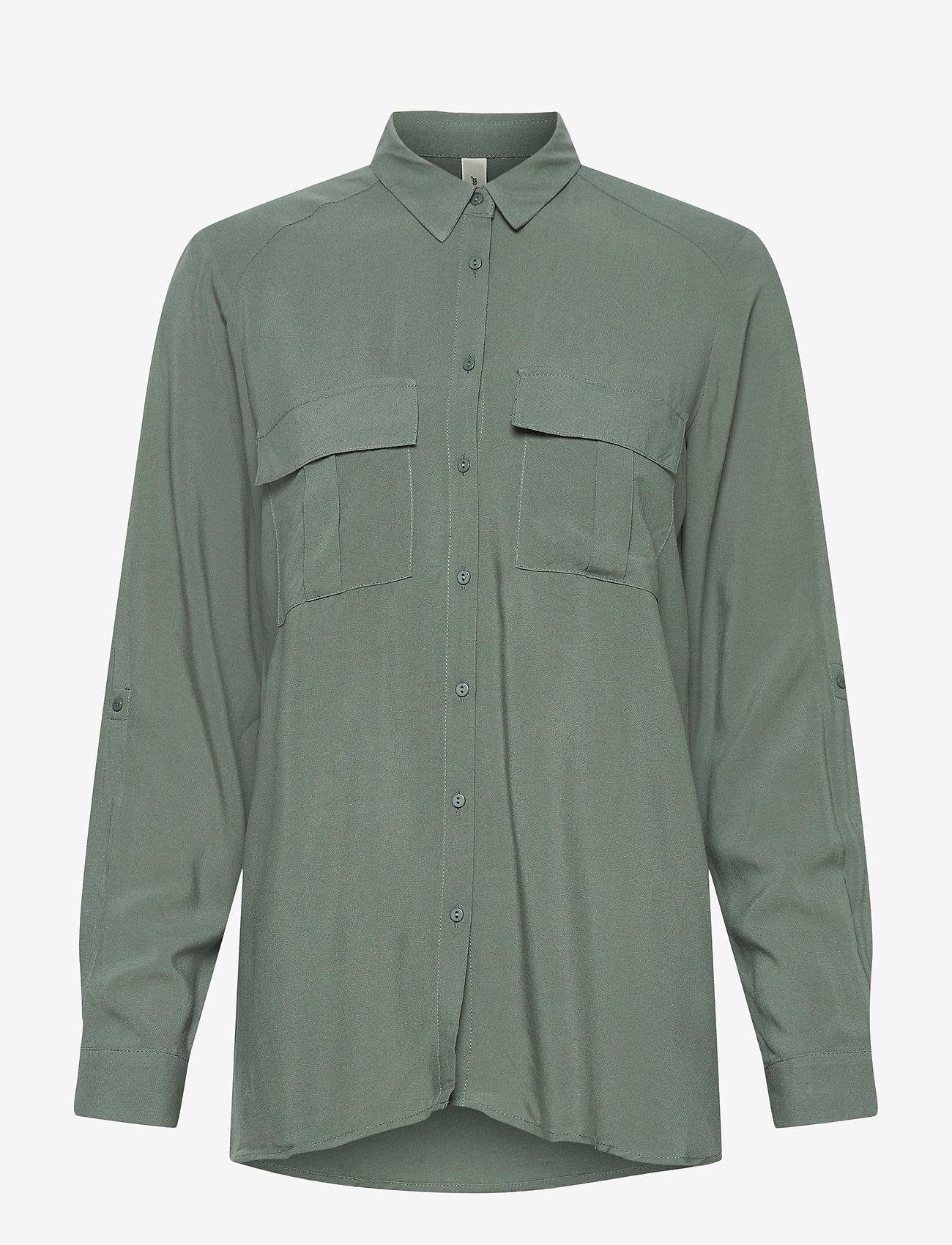 Soyaconcept - SC-RADIA - long sleeved blouses - shadow green - 0