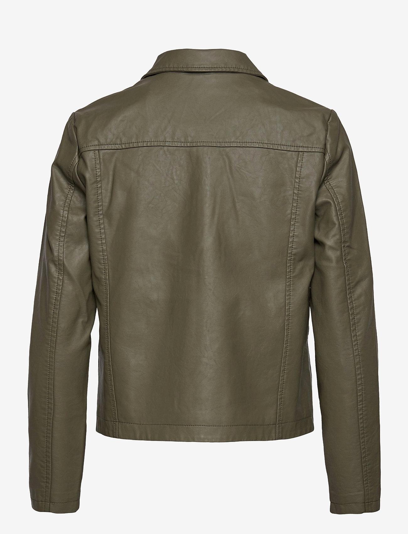 Soyaconcept - SC-GUNILLA - leather jackets - dark army - 1