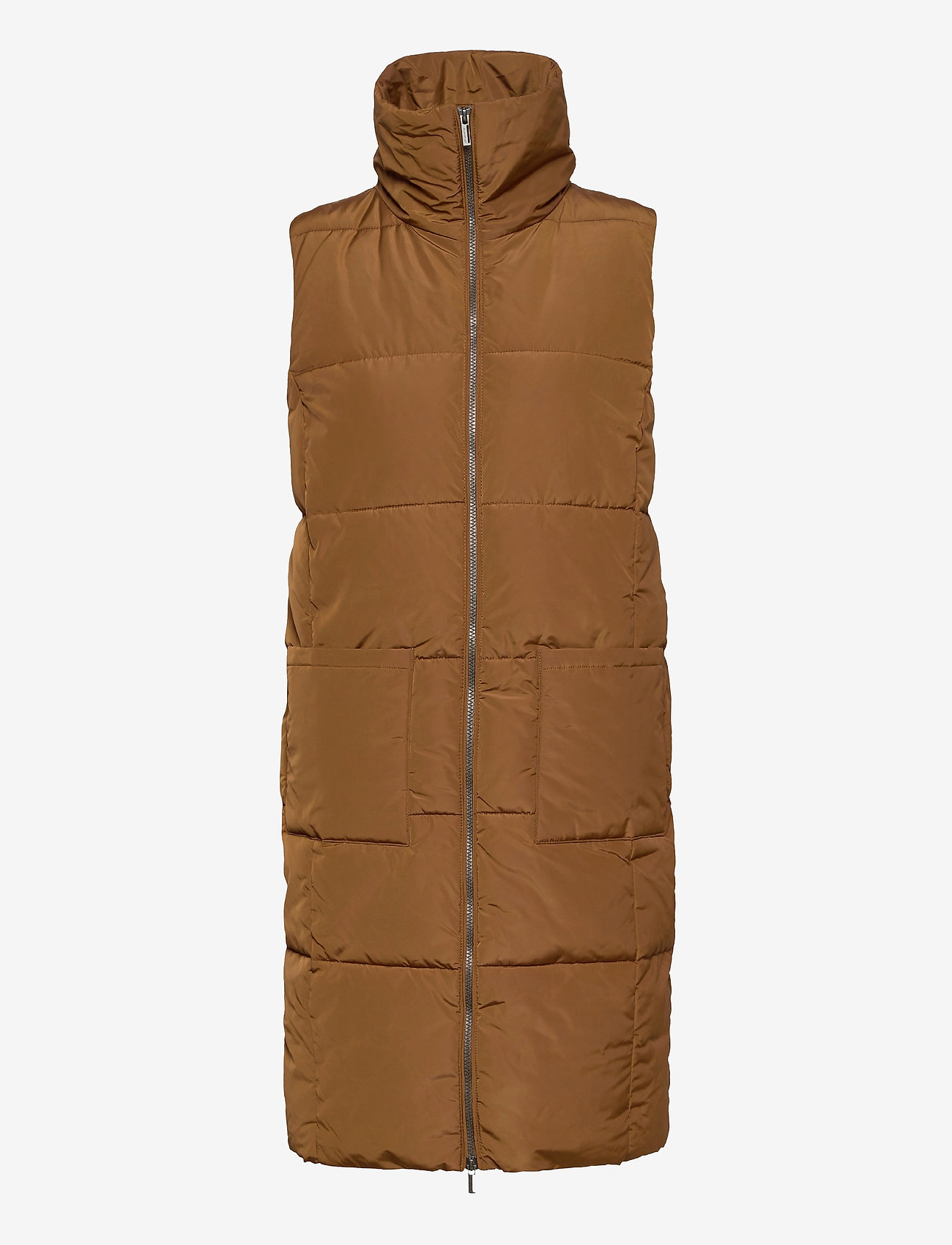 Soyaconcept - SC-NINA - puffer vests - dark caramel - 0