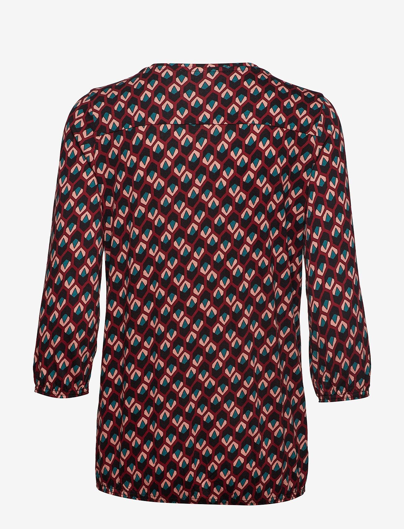 Soyaconcept - SC-FELICITY AOP - blouses à manches longues - cabernet combi