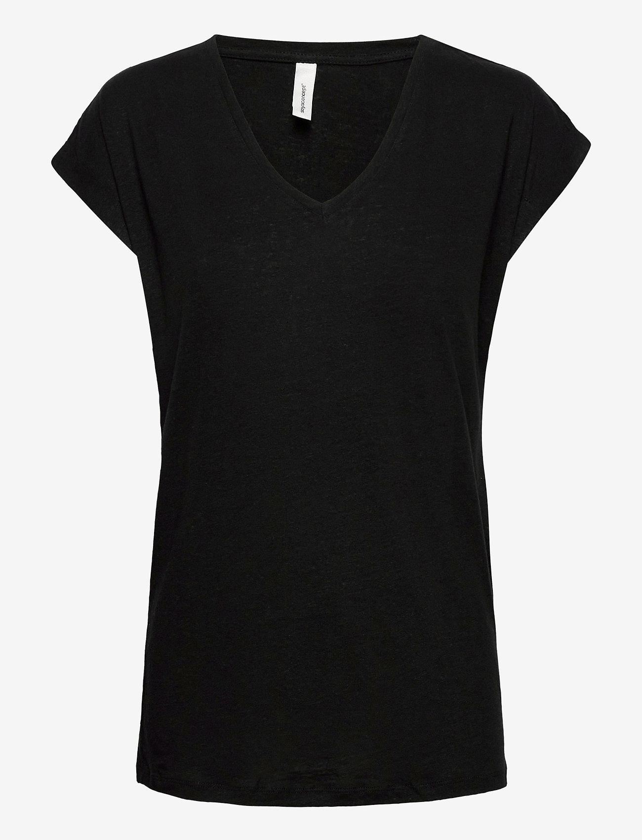 Soyaconcept - SC-ISABEL - t-shirts - black - 0