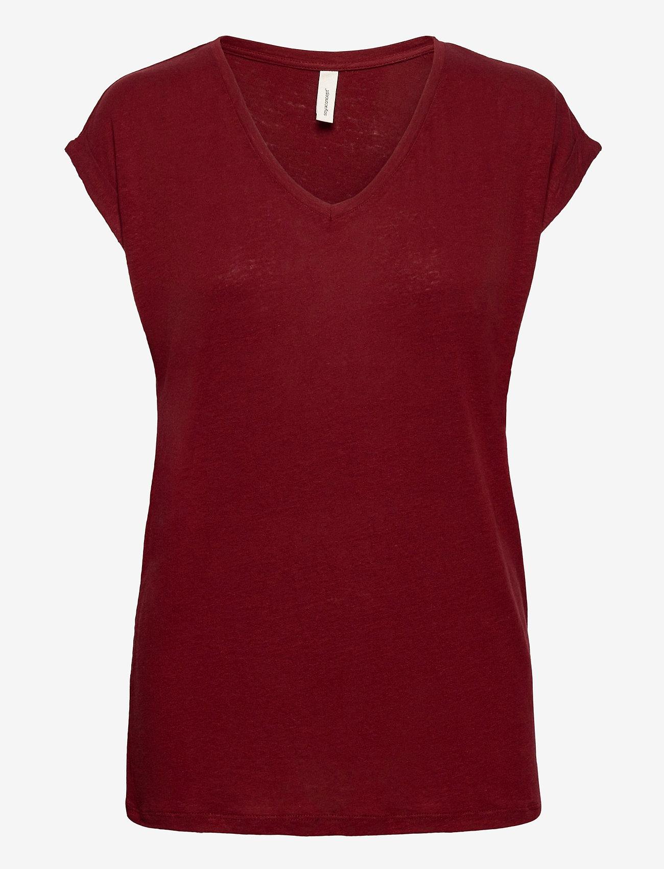 Soyaconcept - SC-ISABEL - t-shirts - syrah - 0