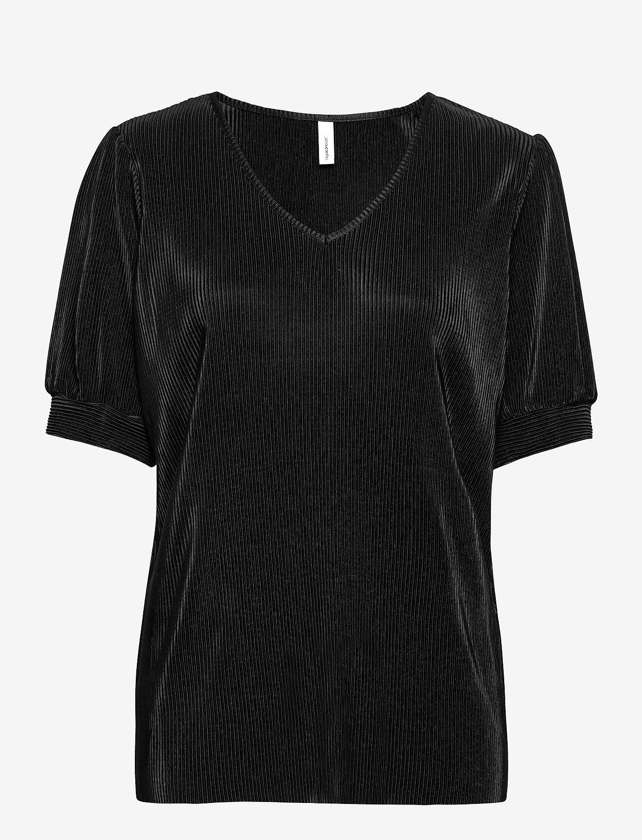 Soyaconcept - SC-NELLIE - short-sleeved blouses - black - 0