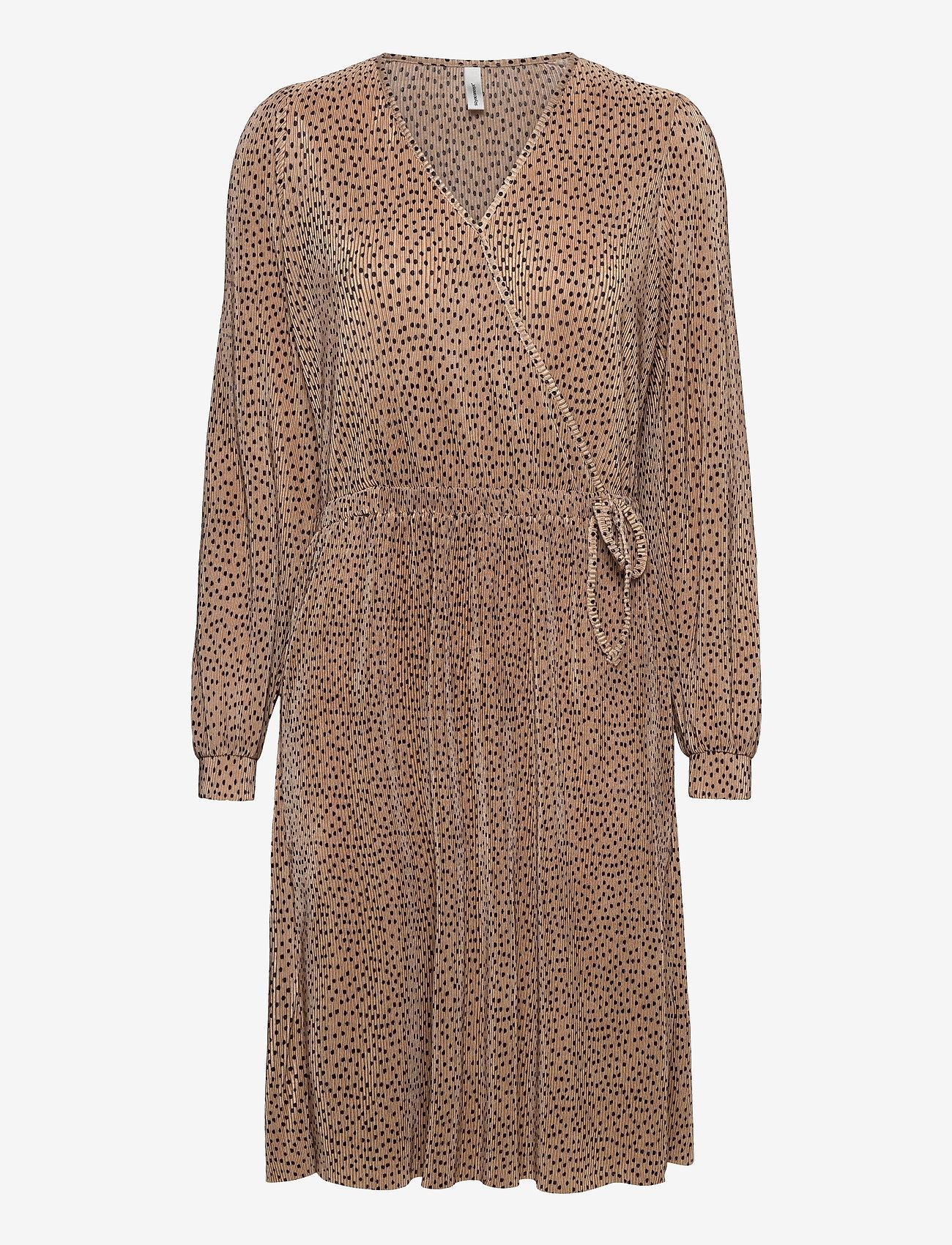 Soyaconcept - SC-NELLIE - midi dresses - camel combi - 0