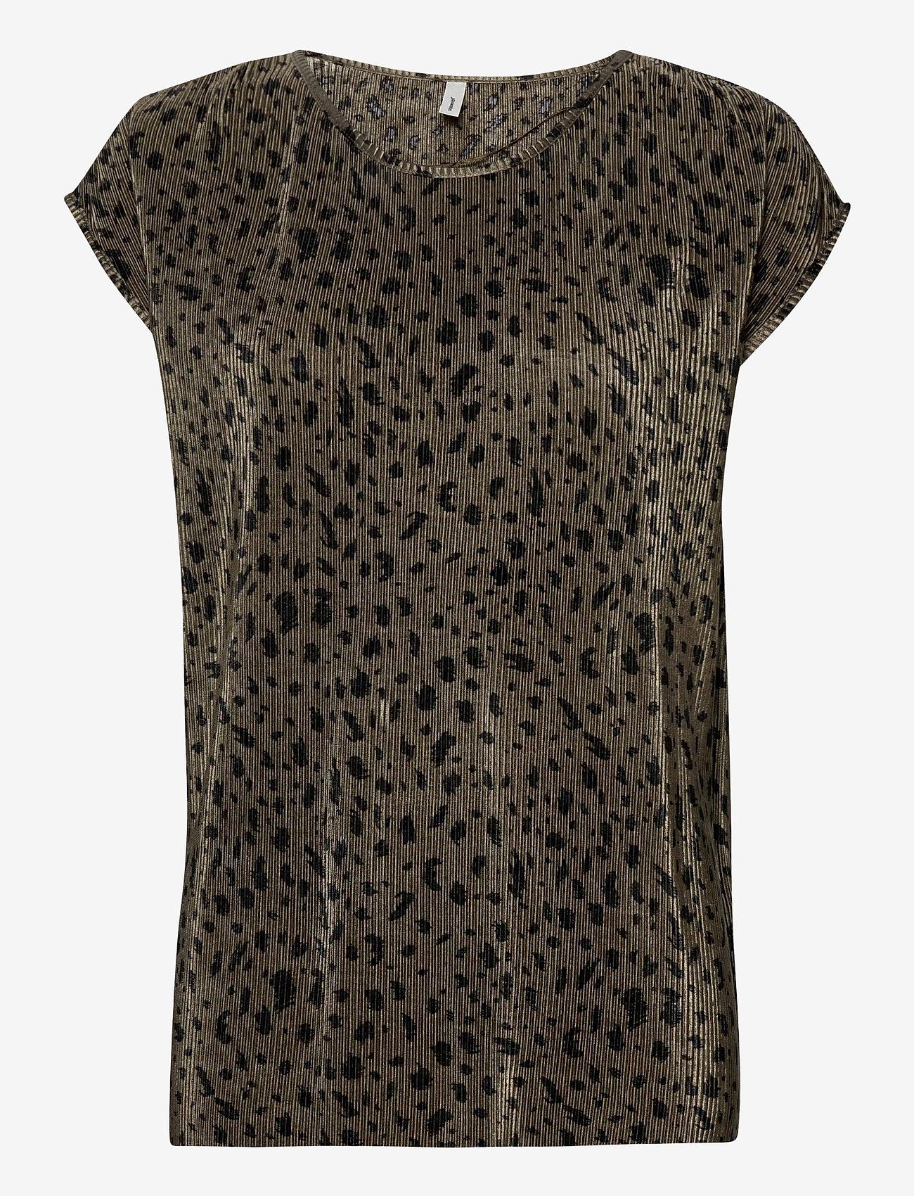 Soyaconcept - SC-OLINDA - short-sleeved blouses - dark army combi - 0