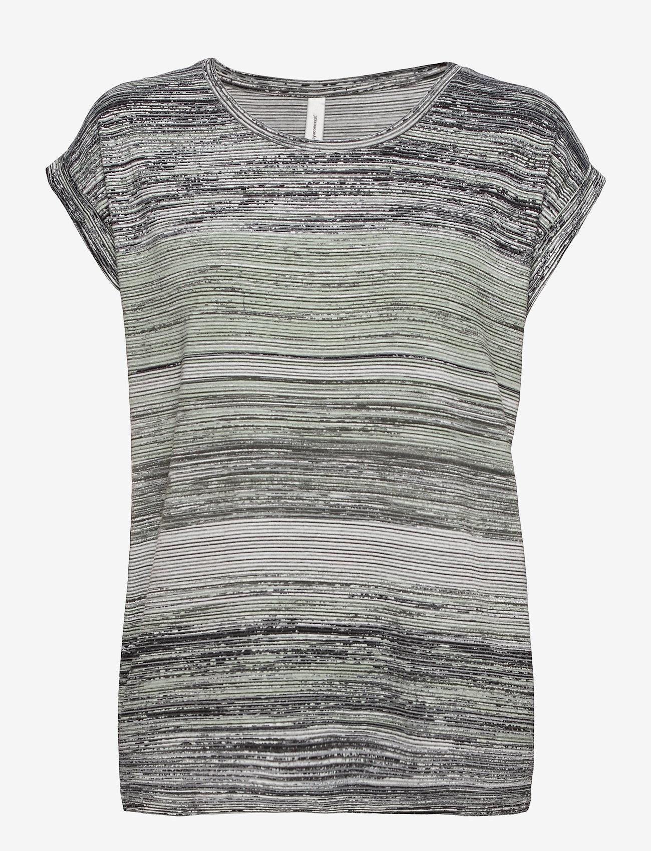 Soyaconcept - SC-GALINA - t-shirts - light green combi - 0