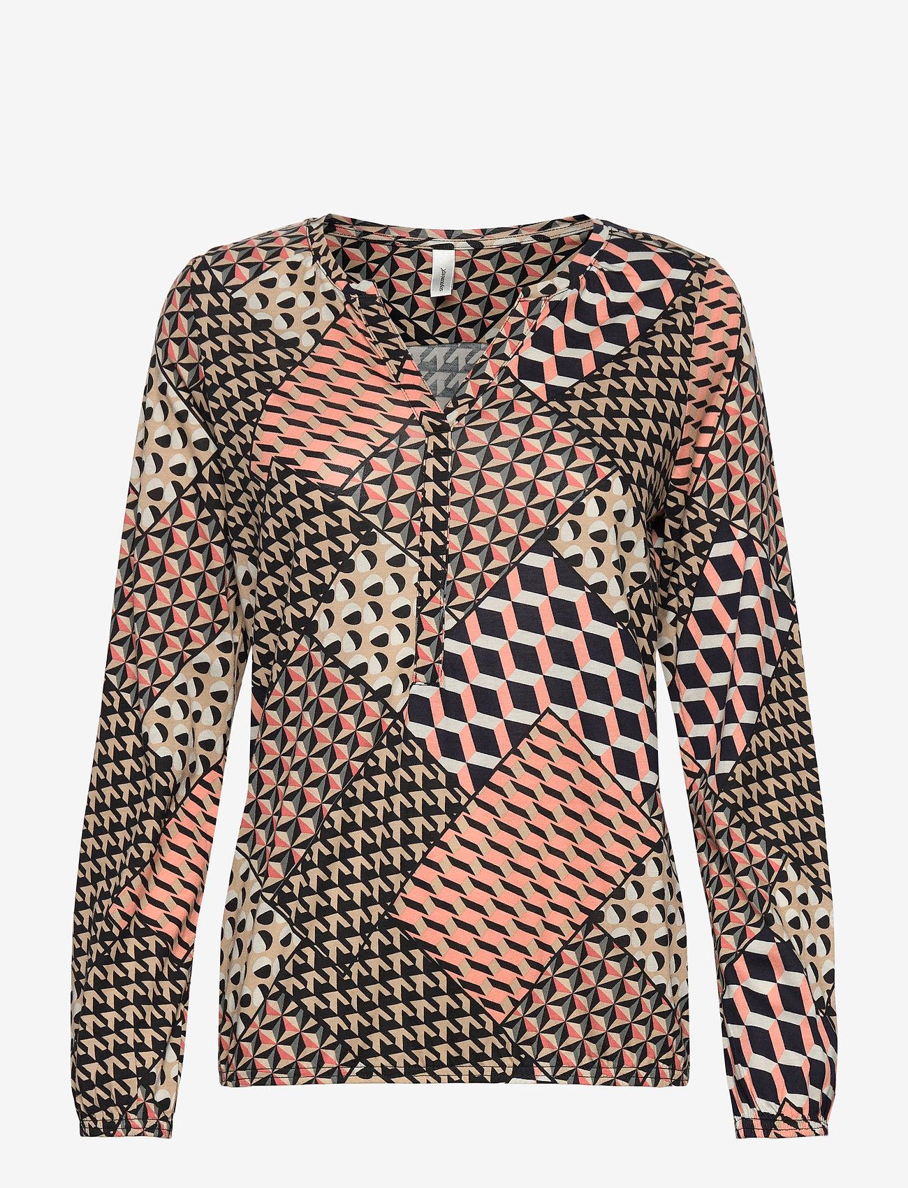 Soyaconcept - SC-FELICITY AOP - long sleeved blouses - rose dawn combi - 0