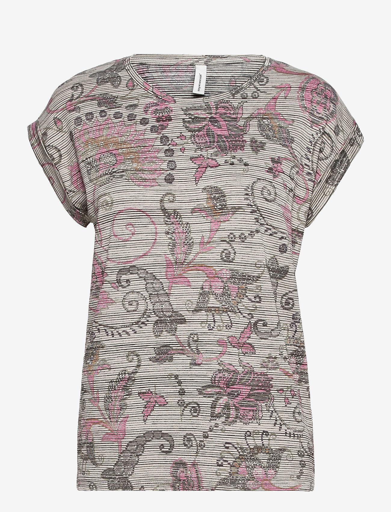 Soyaconcept - SC-GALINA - t-shirts - pink combi - 0