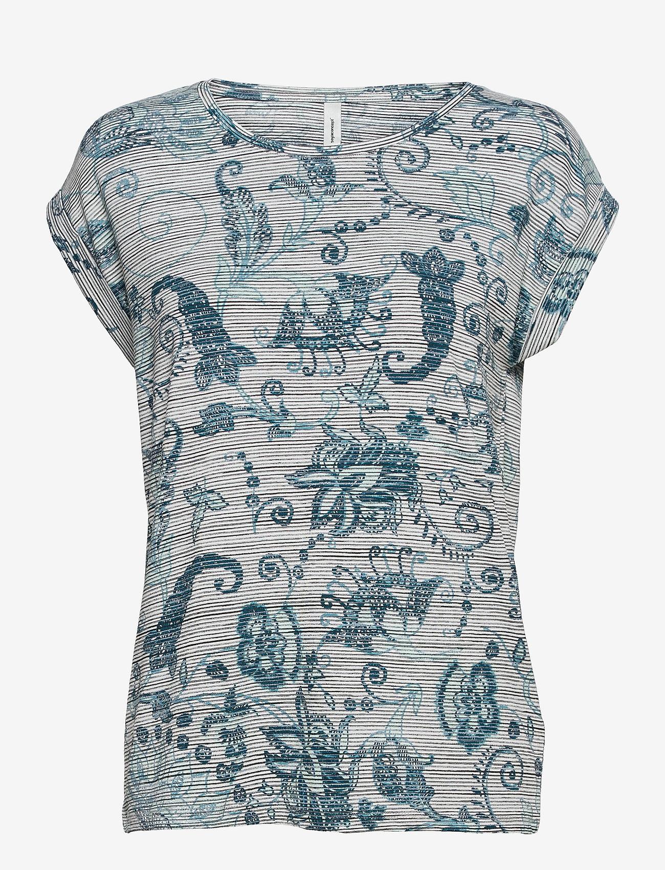 Soyaconcept - SC-GALINA - t-shirts - turquoise combi - 0