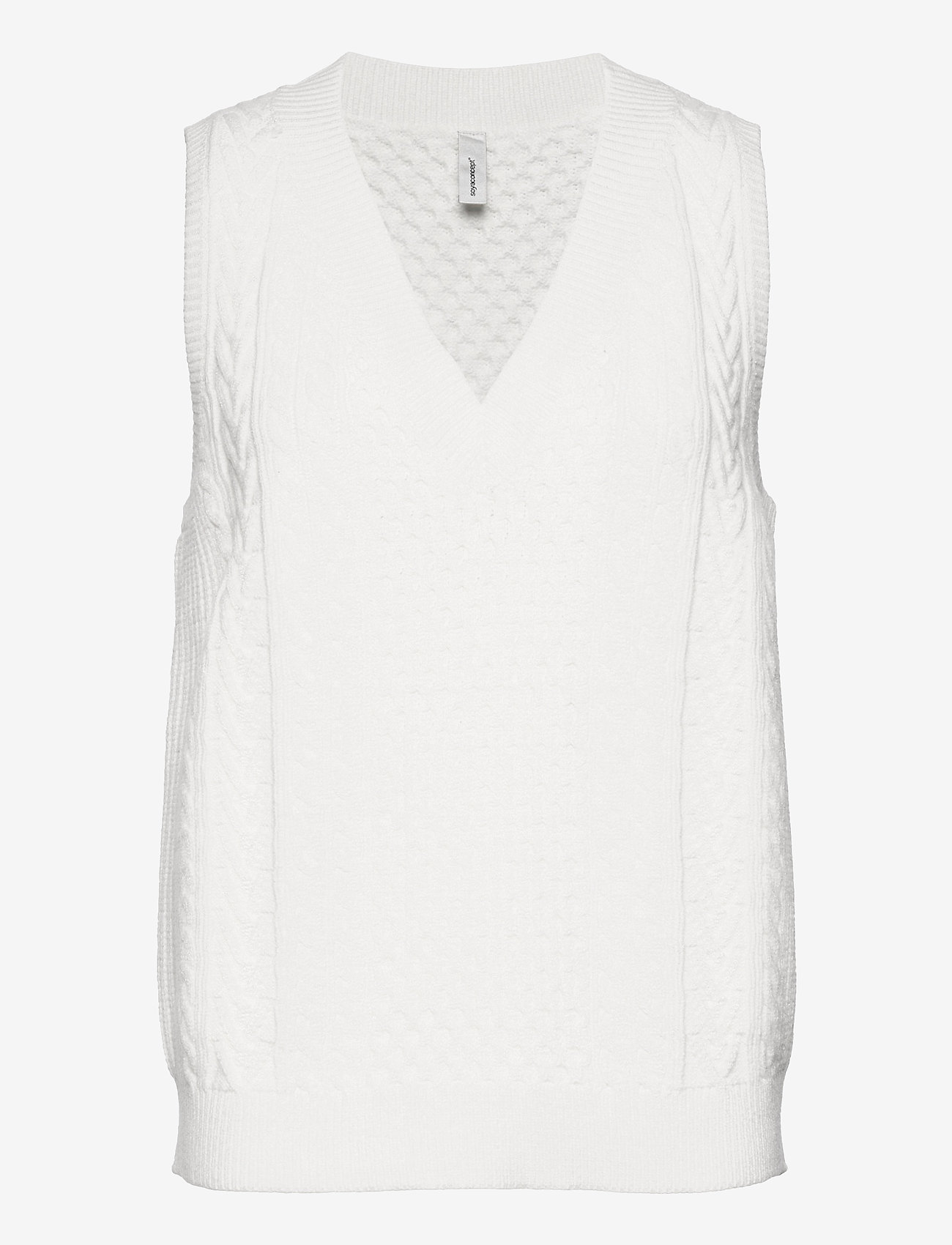 Soyaconcept - SC-BLISSA - knitted vests - offwhite - 0