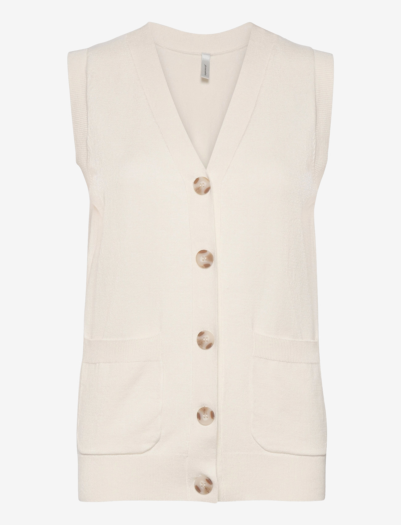 Soyaconcept - SC-DOLLIE - knitted vests - offwhite - 0