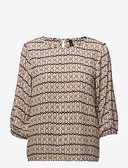 Soyaconcept - SC-MALINE - short-sleeved blouses - ruby combi - 0