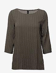 Soyaconcept - SC-MALICA - striped t-shirts - grape leaf combi - 0