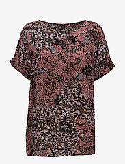 Soyaconcept - SC-MAILEA - blouses à manches courtes - ruby combi - 0
