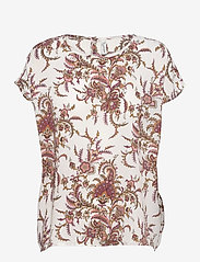 Soyaconcept - SC-SOLEA - short-sleeved blouses - dark pink rose combi - 0