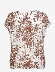 Soyaconcept - SC-SOLEA - short-sleeved blouses - dark pink rose combi - 1