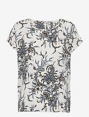 Soyaconcept - SC-SOLEA - short-sleeved blouses - powder blue combi - 0