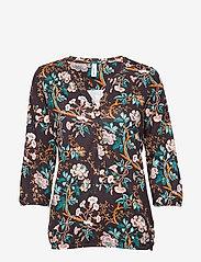 Soyaconcept - SC-FELICITY AOP - blouses à manches longues - dark earth combi - 0