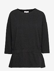 Soyaconcept - SC-SIHAM JACQUARD - t-shirts basiques - black - 0