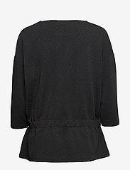 Soyaconcept - SC-SIHAM JACQUARD - t-shirts basiques - black - 1