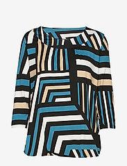 Soyaconcept - SC-MARICA AOP - blouses à manches longues - deep green - 0