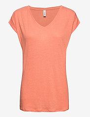 Soyaconcept - SC-ISABEL - t-shirts - peach - 0