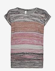 Soyaconcept - SC-GALINA - t-shirts - dark pink rose combi - 0