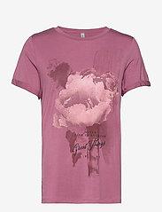Soyaconcept - SC-MARICA FP - t-shirt & tops - dark pink rose - 0