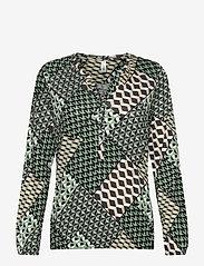 Soyaconcept - SC-FELICITY AOP - long sleeved blouses - 7580c mineral green combi - 0