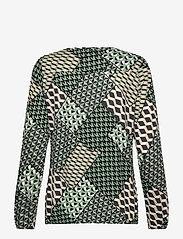 Soyaconcept - SC-FELICITY AOP - long sleeved blouses - 7580c mineral green combi - 1