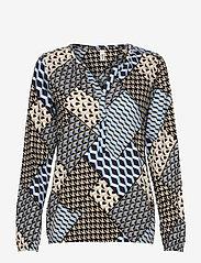 Soyaconcept - SC-FELICITY AOP - long sleeved blouses - bright blue combi - 0
